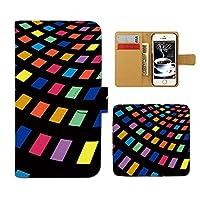 (ティアラ) Tiara ARROWS NX F-04G スマホケース 手帳型 pattern 手帳ケース カバーパターン 模様 カラフル 北欧 タイル E0260030081301