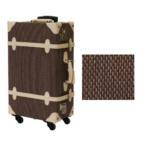 (グラディス・トラベル)GladysTravel クラシックトランクケース 布製 4輪キャスター 8510-79 Mサイズ ダークブラウン