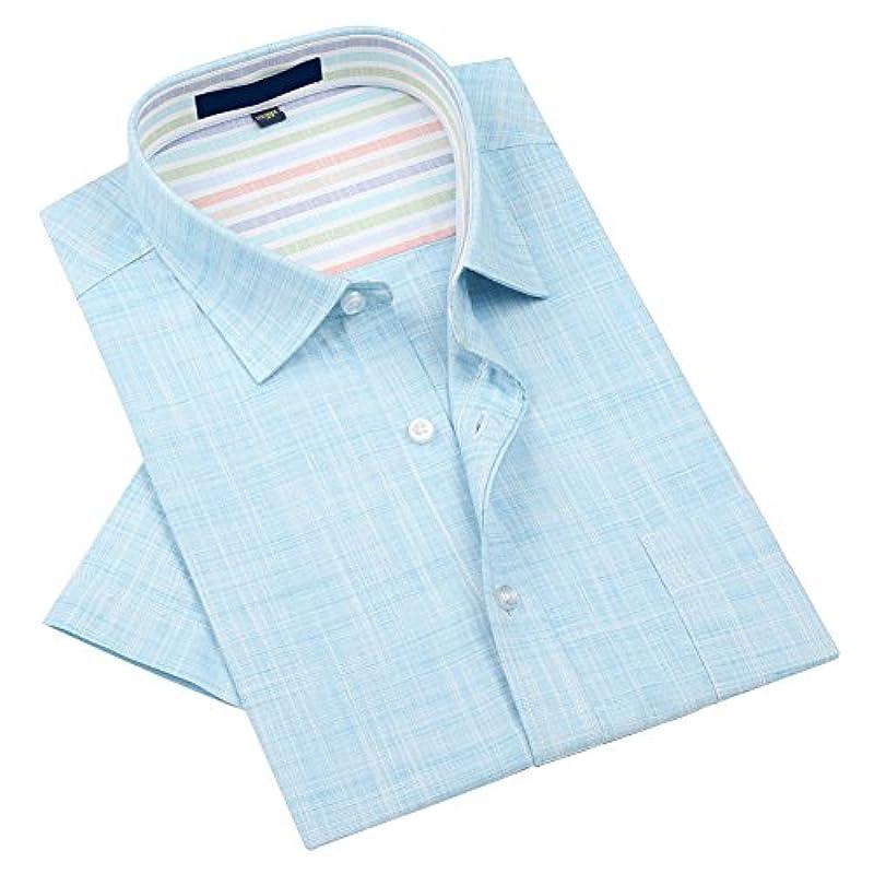 ステップ透明に故意にZENGVEEメンズ天然素材 麻 クールビズ 半袖ワイシャツ カッタウェイ リネン カジュアルビジネスワイシャツ 全5色/柄