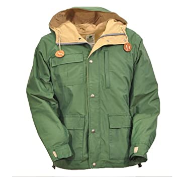 Short Parka 8001: Green / Vintage Tan