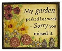 Garden Collection 13060013 My Garden Peaked Plaque