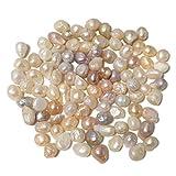 【エデンの貝殻】天然 未加工 淡水真珠 約65g(62~100粒) 7~15mm バロックパール [輸入品][S-14]