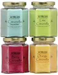 インドアCitronella Candle Variety Pack | Flying反発昆虫内側|手Poured in the USA by Just Makes Scents