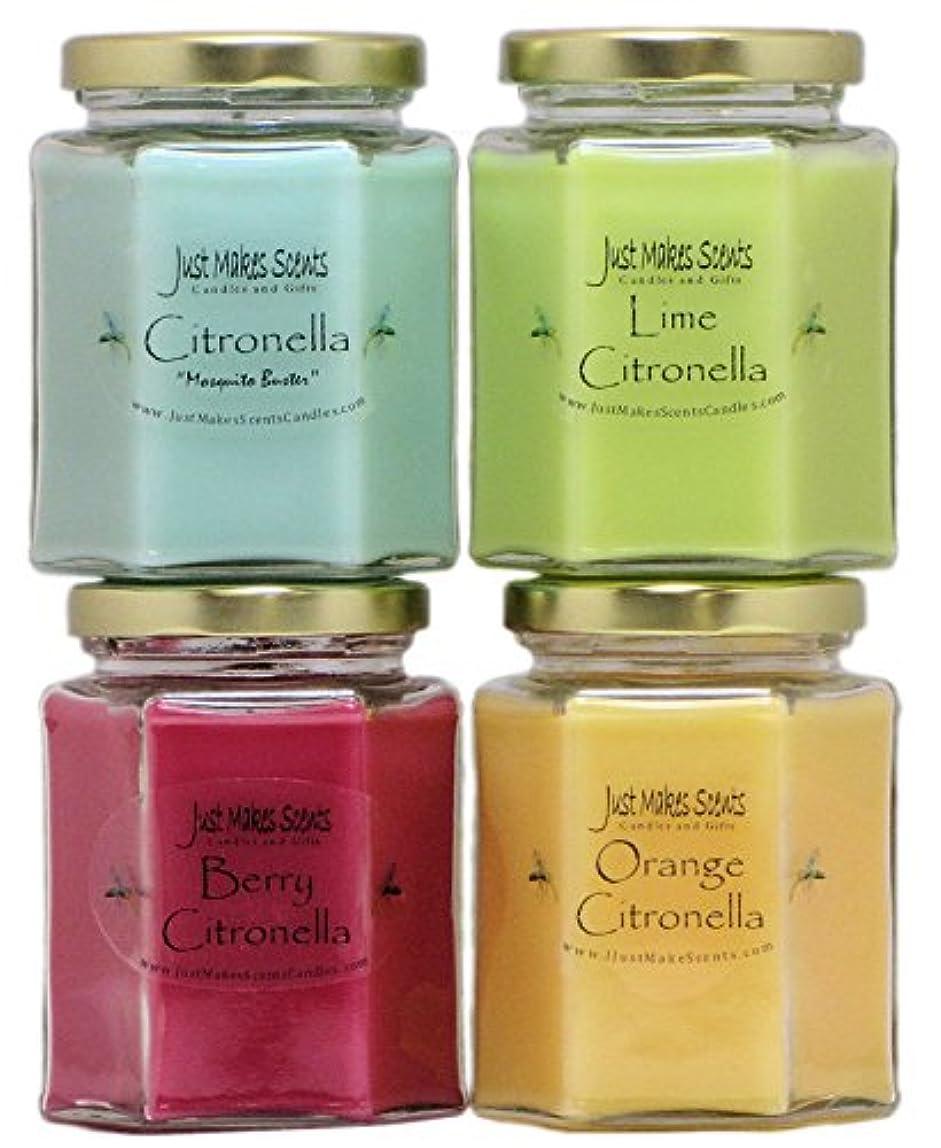 フレームワークふける乙女インドアCitronella Candle Variety Pack | Flying反発昆虫内側|手Poured in the USA by Just Makes Scents