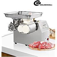 CGOLDENWALL 300kg/hステンレス製ひき肉器 業務用電動肉挽き器1100w みじん切り器 全自動ソーセージマシンスライサー 豚肉、牛肉、魚、鶏肉、唐辛子、キノコ、ニンニク、大根などに (110v)