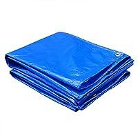 LQQGXL 防水シート、屋外防水シート、両面防湿貨物防塵布、高温防止テント布、青+白 防水シート (色 : Blue+White, サイズ さいず : 2x3m)