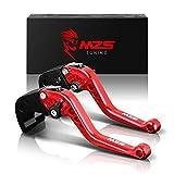 MZS 6段調整 ブレーキ クラッチ レバー 用 スズキ GSX-R600 GSXR600 GN7FA 11-17年/ GSX-R750 GSXR750 GR7MA 11-17年/ GSX-R1000 GSXR1000 GT78A 09-18 年/GSX-S1000 GSX-S1000F 15-18年 レッド