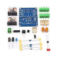 Akozon スピーカー保護ボード AC 12-24Vデュアルリレー電圧レギュレータスピーカー保護ボードモジュールDIYキット