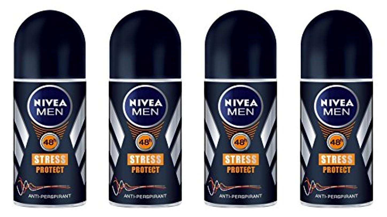 底コンテストピケ(Pack of 4) Nivea Stress Protect Anti-perspirant Deodorant Roll On for Men 4x50ml - (4パック) ニベア応力プロテクト制汗剤デオドラントロールオン...