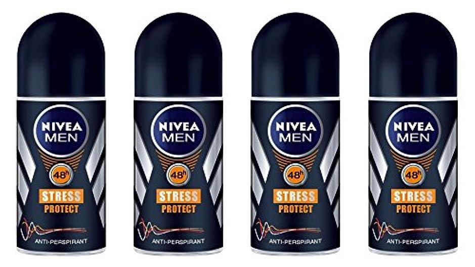 アルコールストライク食器棚(Pack of 4) Nivea Stress Protect Anti-perspirant Deodorant Roll On for Men 4x50ml - (4パック) ニベア応力プロテクト制汗剤デオドラントロールオン...