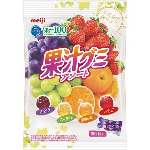 明治製菓 果汁グミ 個包装アソート90g×3パック