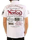 NORTON(ノートン) ワッペン使い 半袖 ラガー シャツ (ホワイト・サイズS)