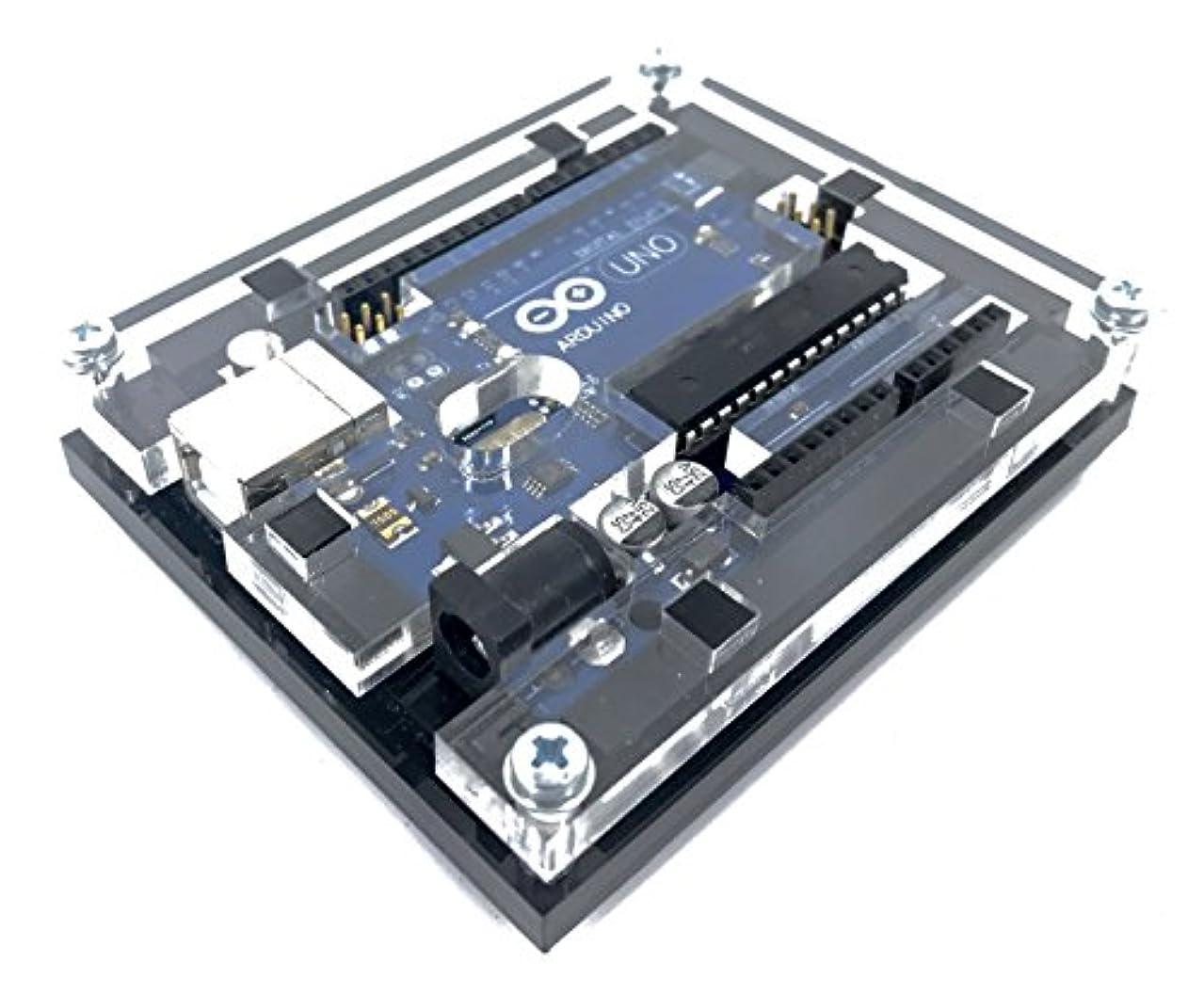不運キャンベラアウター[ reprapguru ] Uno r3ケースArduino UNO r3と互換性新しい光沢アクリルコンピュータボックスエンクロージャ One Size 1