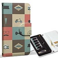 スマコレ ploom TECH プルームテック 専用 レザーケース 手帳型 タバコ ケース カバー 合皮 ケース カバー 収納 プルームケース デザイン 革 ひげ めがね カメラ 010467