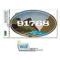 91768 ポモナ, CA - 川岩 - 楕円形郵便番号ステッカー