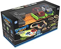 Mindscope Twister Tracks Trax 360 Loop 15' (feet) of Neon Glow in the Dark Track with Two Light-Up (Pulse LED) Vehicles City Vehicle Series by Mindscope