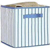 折り畳み式収納箱オーガナイザーボックス衣類/おもちゃ/本、ストライプ用