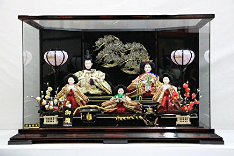芥子5人(研出塗装)皇輝 SB742K 30-245 【雛人形ケース飾り】