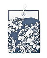 ネイビー花柄ポケットNOTEカードセット