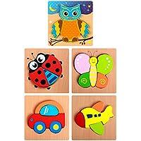 (Two siyo)シンプルで楽しい!パズル 幼児向け 5種類セット