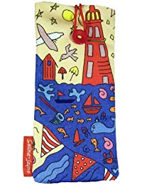 selina-jayne British Seaside Limited Edition Designer Soft Fabricメガネケース