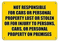 車/個人財産については責任を負いません