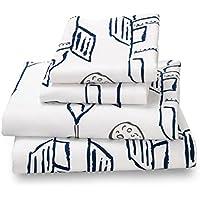 [フェアザポルカ]Where The Polka Dots Roam Full Sheet Set Rocket/Plane Print for Kids Bedding Double Brushed Ultra [並行輸入品]