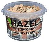3 Litre BBQ Smoking British Wood Chips (Hazel) ヘーゼルチップ [並行輸入品]