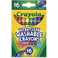 ウォッシャブルクレヨン(洗い流せるクレヨン)Crayola クレヨラ16色セット [並行輸入品]