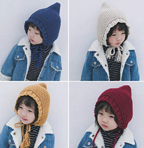 秋冬 キッズ 帽子 キャップ ニット帽 カラフル 韓国風