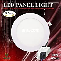 LEDパネルライト, 24w Round Panel Light 24w-R-W(5pcs)