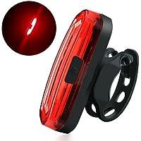 自転車テールライト LED超高輝度 セーフティーライト サイクルライト USB充電式 充電用マイクロUSBケーブル付属防水 小型 軽量 装着簡単 リアキャリア向けテールライト 夜間走行の視認性をアピール レッド
