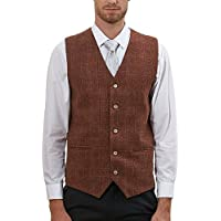 Hanayome Men's Vest Blazer Button Set Uniform Coat Tux Jacket Waitscoat Buttons