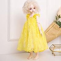 D DOLITY 1/3 1/4 BJD SD LUTSドルフィー人形対応 ドール用 素敵 プリンセス   レース  ドレス 全8色   - 黄