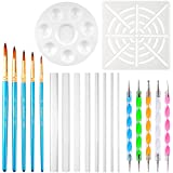 URlighting Dotting Tools (20 Pcs) Mandala Dotting Kit for Rock Painting, Coloring, Drawing & Drafting, Kids' DIY Crafts, Clay Sculpting, Nail Art
