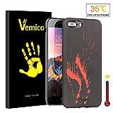 Vemico iPhone 6/ 6s/ 6 Plus/ 6s Plus/ 7/ 7 Plus専用 面白い PUケース スマホケース スマホカバー 色が変わりスマホ 熱感知 手帳型ケース 保護性ケース 耐久性 個性派 変り種 キズ防止 ファッション デコレーション