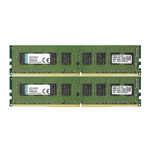 キングストン Kingston デスクトップ PCメモリ DDR4-2133 (PC4-17000) 8GB×2枚 CL15 1.2V Non-ECC DIMM  288pin KVR21N15S8K2/16 永久保証 -
