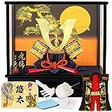 五月人形 久月 兜ケース飾り 兜飾り 松に満月 h315-kcp-k51669nr