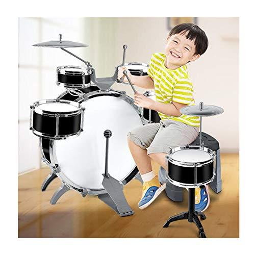 子供用ジャズドラムセット8個セット6個ドラム2個椅子キックペ...