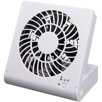 ドウシシャ 3電源 コンパクトデスク扇風機 ホワイト USB付き MPM-1081U(WH)