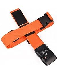 クロース(Kroeus)スーツケースベルト 十字型 ロック搭載ベルト ワンタッチベルト調整可能 ネームタグ 盗難防止