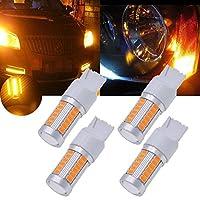 TUINCYN 7440アンバー5630 33SMD LED電球900ルーメン7440NA 7441 992ブライトブレーキ停止駐車ライト、ターンシグナルバルブ、サイドマーカーランプDC 12V 3.6W(4パック)