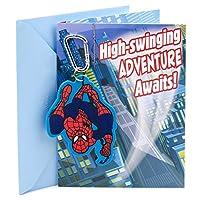 (Spider-Man Backpack Clip) - Hallmark Birthday Greeting Card for Boy (Spider-Man Backpack Clip)