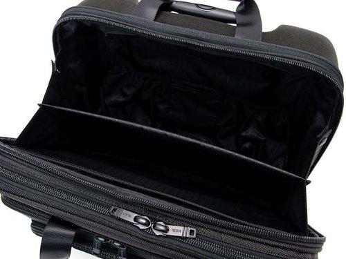 (トゥミ) TUMI 26127 DH ALPHA キャリーケース/スーツケース ウィールド・デラックス・エクスパンダブル・ブリーフ・ウィズ・ラップトップ・インサート ブラック 【機内持ち込み対応】 [並行輸入品]