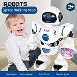 LQT Ltd 2019 ドロップシッピングミュージックロボット クールダンス LED ロボットトイ ホワイト 耐久性 シャイニーダンシングロボットミュージック