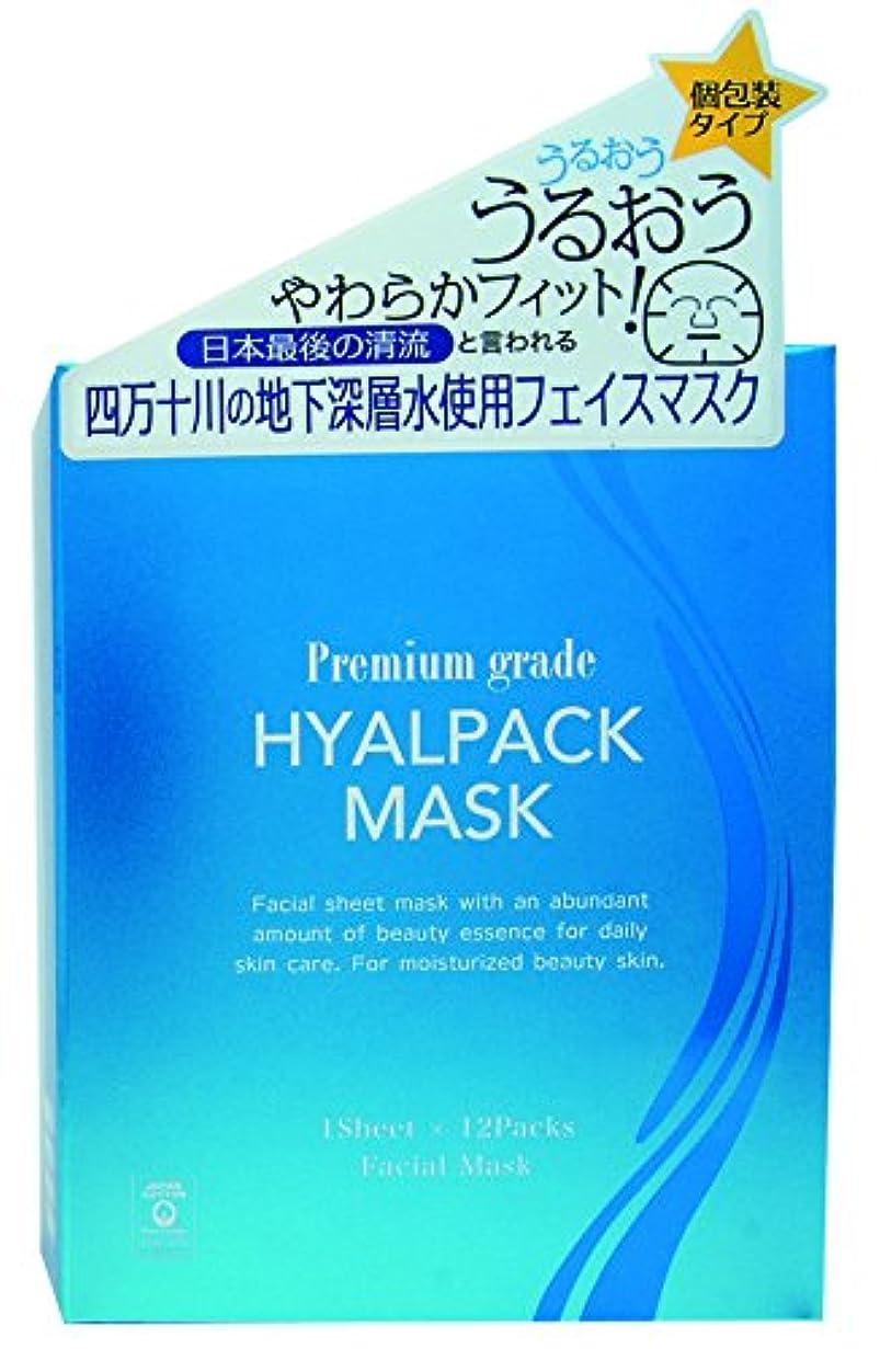 粘着性休み刃プレミアムグレードヒアルパックマスク12枚
