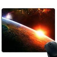 スペース惑星 天の川 オレンジ ・マウスパッド・ゲーミングマウスパッド・ノンスリップマウスパッド ・した ゲーミングマウスパッド PC ラップトップ オフィス用 長方形マウスパッド