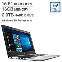 Dell Inspiron 15 5000 15.6 Touchscreen Trulife LED-Backlit FHD i5570-7487SLV-PUS Intel 8th Gen i7-8550U 16GB RAM 2TB HDD 4GB AMD Radeon Windows 10 Professional [並行輸入品]