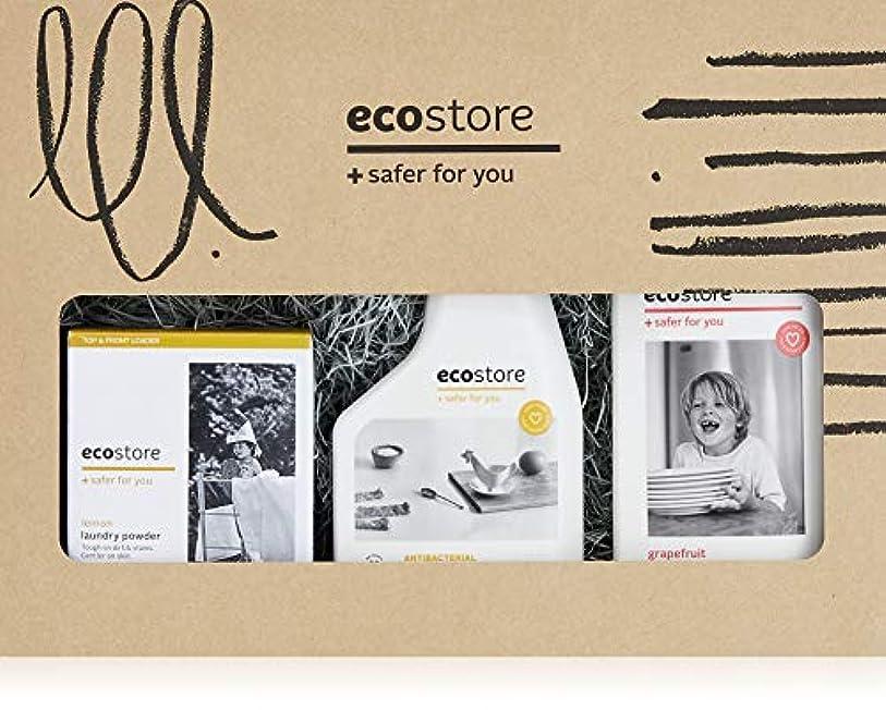 ecostore(エコストア) マルチキット  【ランドリーパウダー?ディッシュウォッシュリキッド?マルチクリーナー】 BOXセット