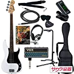SELDER セルダー ベース プレシジョンベースタイプ PB-30/WH VOX amPlug2【アンプラグ2 AP-BS(BASS)】サクラ楽器オリジナルセット